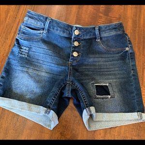 Girls Jean shorts - size 16- adjustable